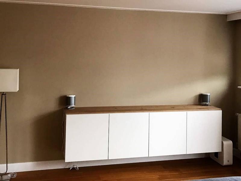 Maatwerk zwevend tv-meubel of dressoir