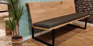 Leven in Stijl meubelmakerij voor het maken van een bank op maat of een eettafelbank van hout op maat