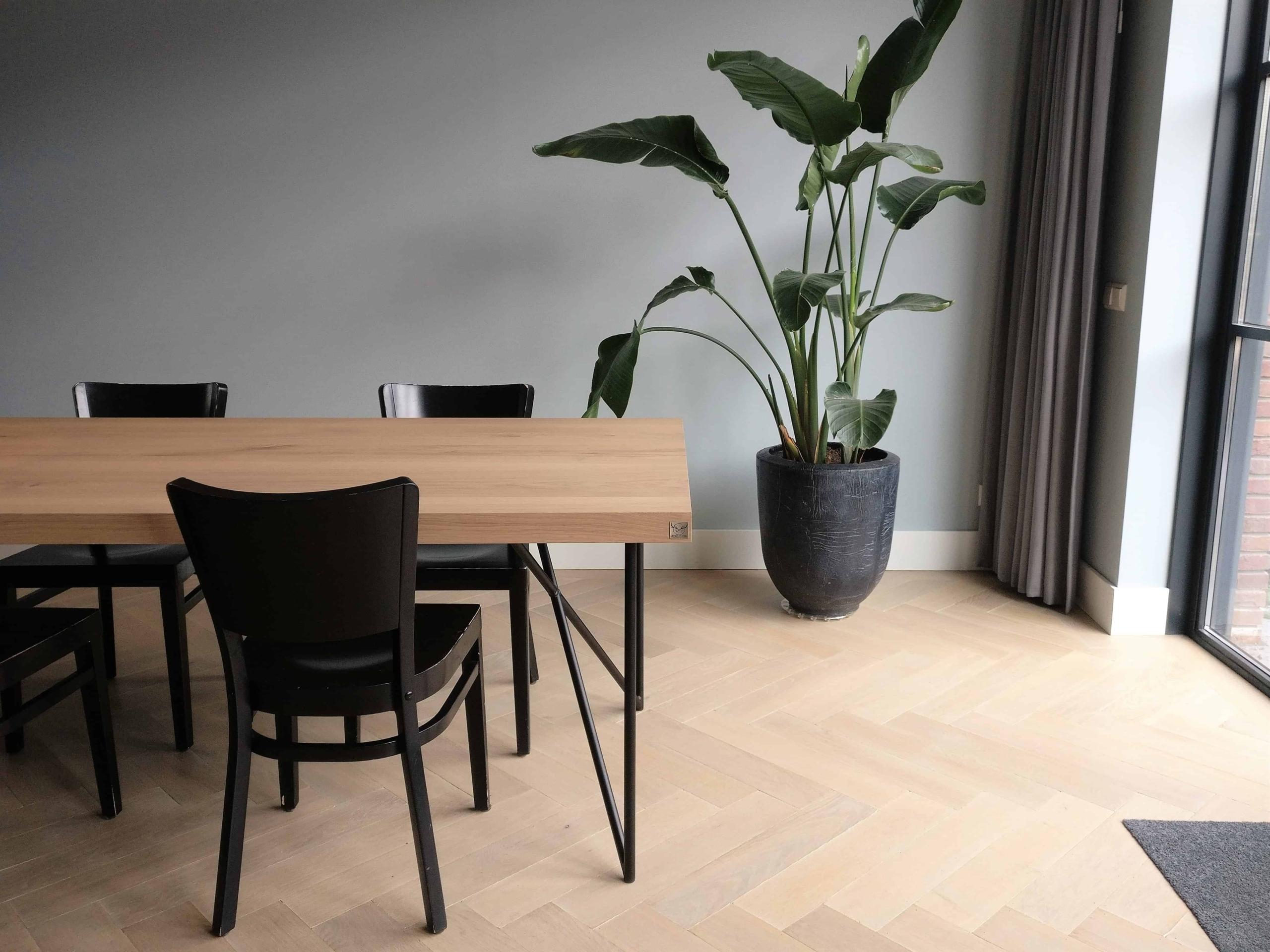 Interieur inspiratie eiken tafel