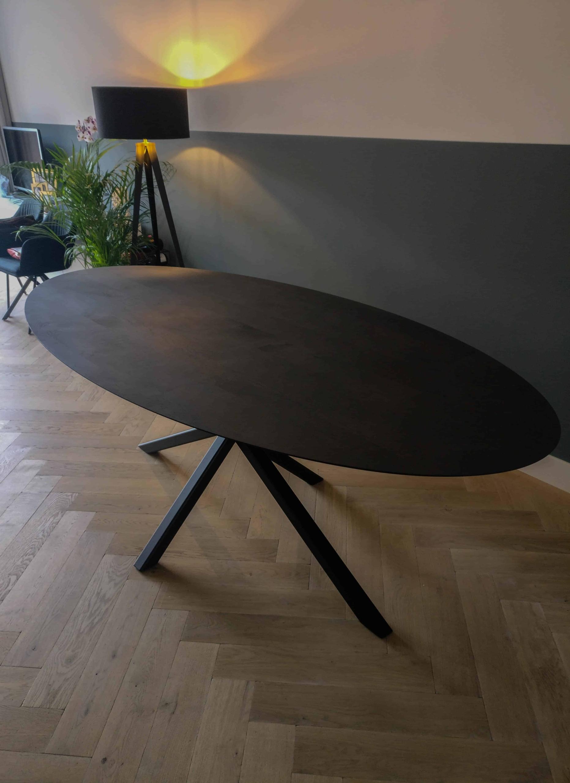 Ovale tafel schuine rand