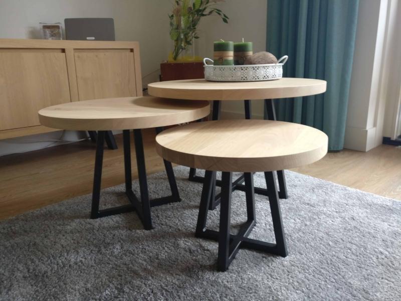 Set ronde salontafels in verschillende maten