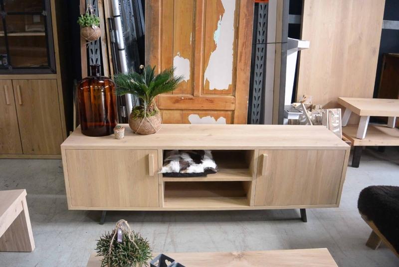 Tv meubel eikenhout op maat gemaakt