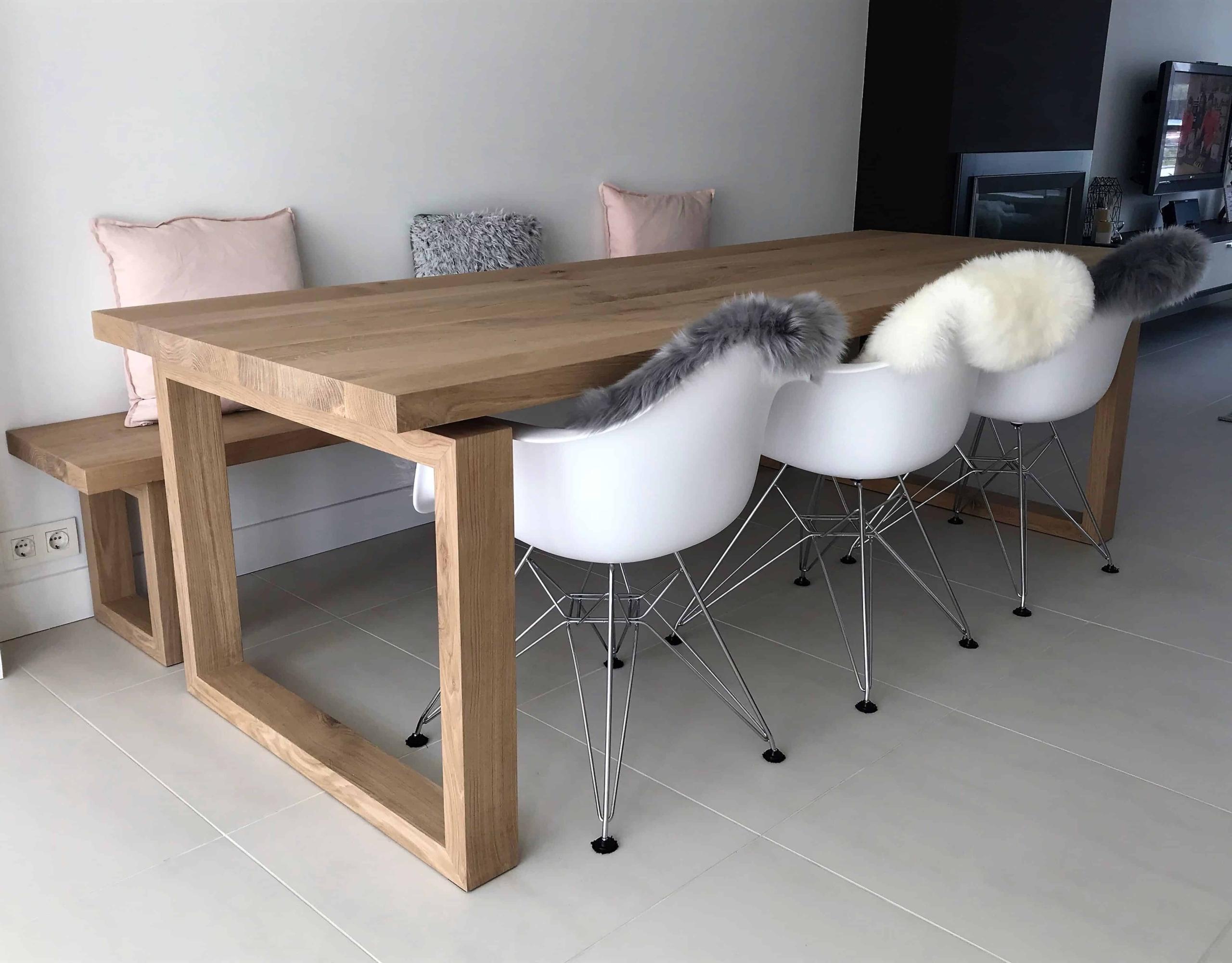 Moderne eiken tafel